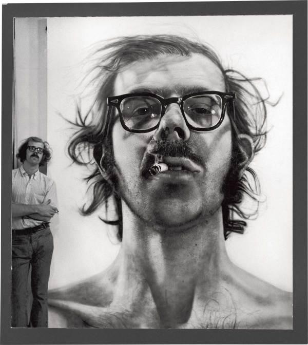 Chuck Close With 'big -portrait' In
