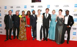 LONDON, ENGLAND - OCTOBER 05: (L to R) Tom Felton, Rick McCallum, Terry Pheto, Amma Asante, David Oyelowo, Rosamund Pike, Jack Davenport, Laura Carmichael, Jessica Oyelowo and Arnold Oceng attend the 'A United Kingdom' Opening Night Gala screening during the 60th BFI London Film Festival at Odeon Leicester Square on October 5, 2016 in London, England. (Photo by John Phillips/Getty Images) *** Local Caption *** Tom Felton; Rick McCallum; Terry Pheto; Amma Asante; David Oyelowo; Rosamund Pike; Jack Davenport; Laura Carmichael; Jessica Oyelowo; Arnold Oceng
