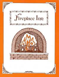 FIREPLACE INN  MENU COVER