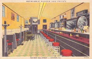 chicago interior 63rd restaurant bardon postcard prices c1940 postcards