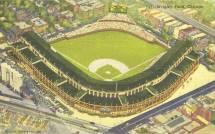 Postcard Chicago Wrigley Field Aerial Wrigleyville
