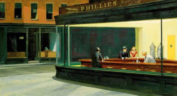 Nighthawks by Edward Hopper Painting