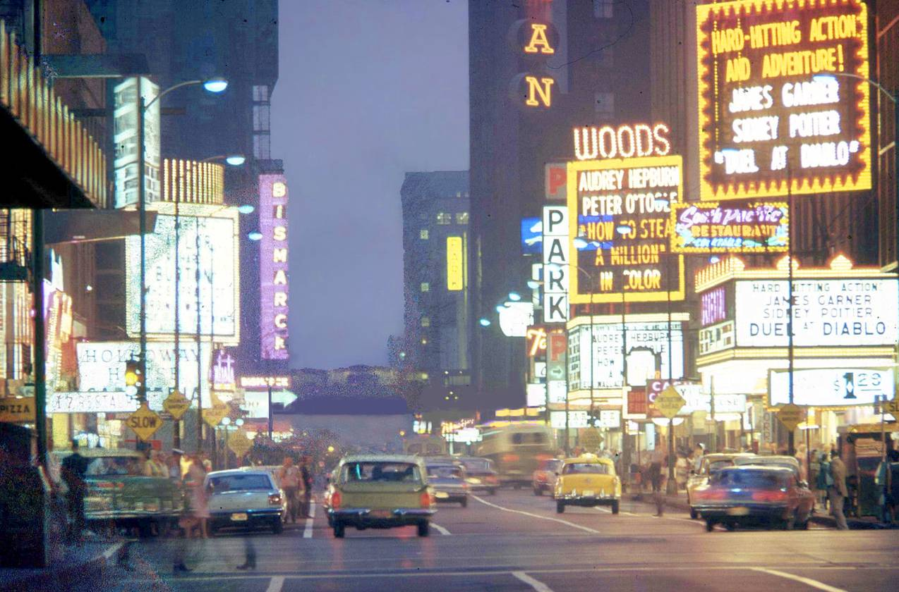 PHOTO CHICAGO RANDOLPH STREET LOOKING W EVENING