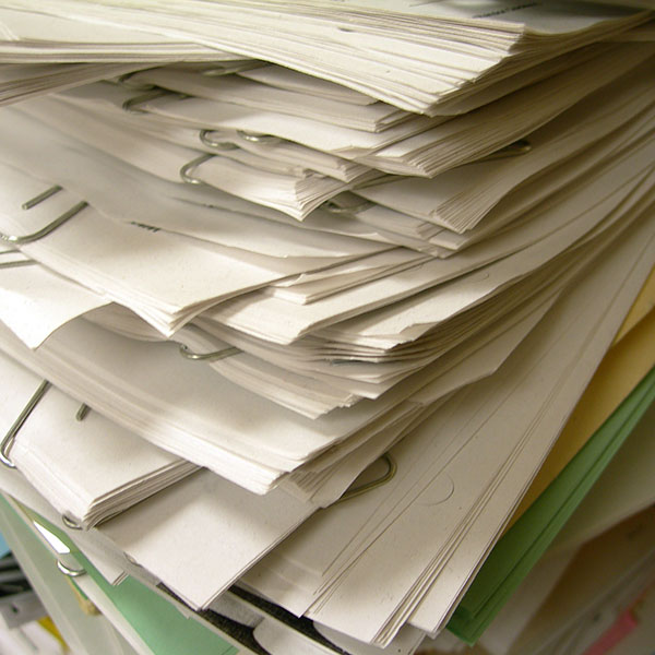 Removing and recycling paper waste