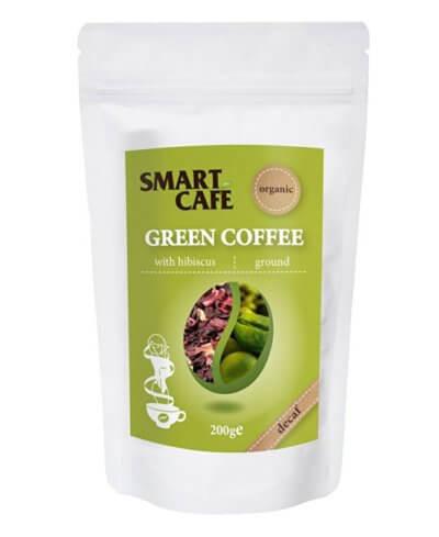 zelená káva s ibištekom