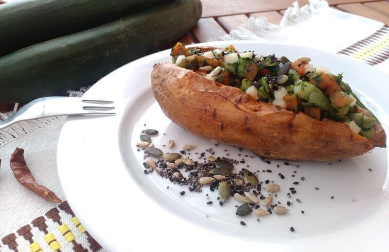 Zapekané bataty so zeleninou