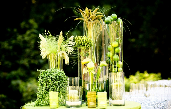 26 Crisp And Bright Lime Green White Spring Wedding Ideas