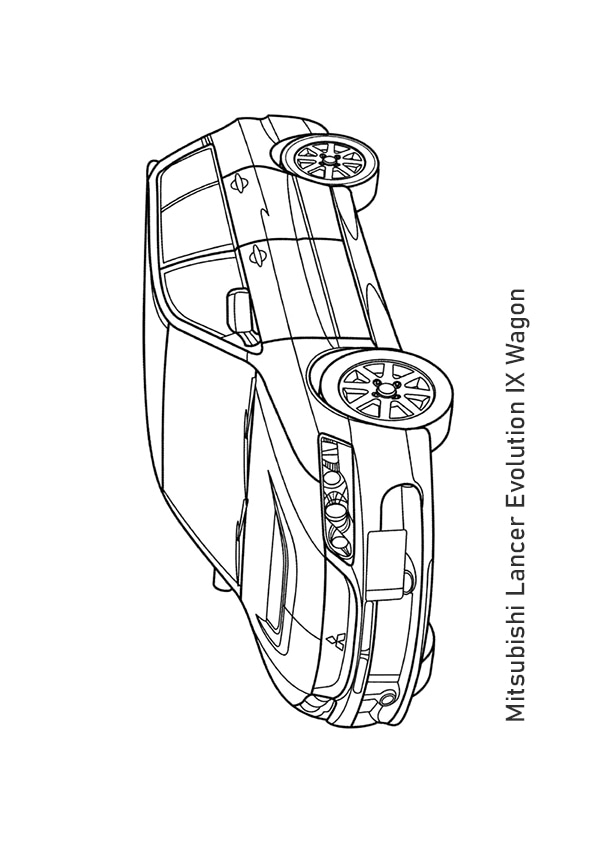 Раскраска универсал Mitsubishi Lancer Evolution IX Wagon