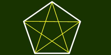 五角形の対角線