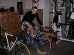 Riding the trainer