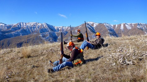 Older brother (middle) came along once and said chukar hunting was for the birds
