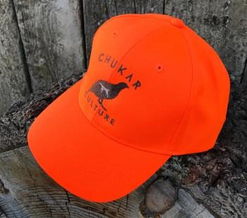 Blaze orange chukar hunting cap