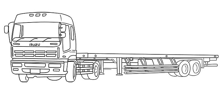 いすゞ低床トレーラーフラットトレーラー