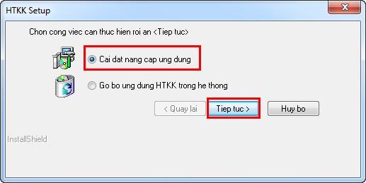 cài đặt nâng cấp ứng dụng httk