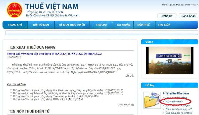 huong dan tai phan mem httk - Hướng dẫn doanh nghiệp kê khai thuế qua mạng chi tiết!