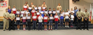 Student 'Super Citizens' honored recently at Olympic View.