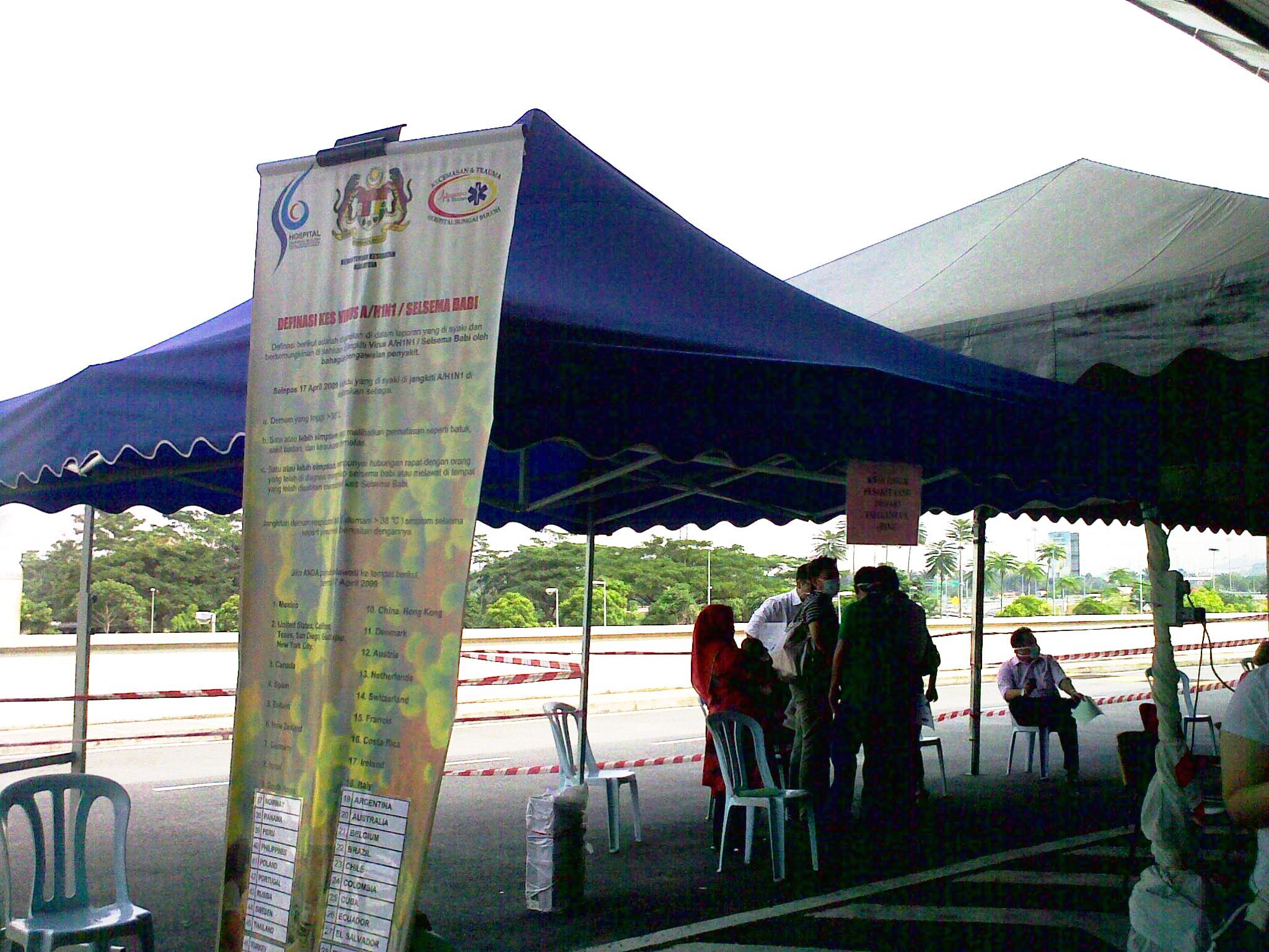 H1N1 tent