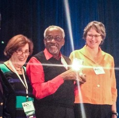 Dr. Broom receiving the Organization  Development Network's Lifetime Achievement Award
