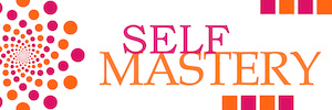 Self Mastery Pink Orange Dots Horizontal