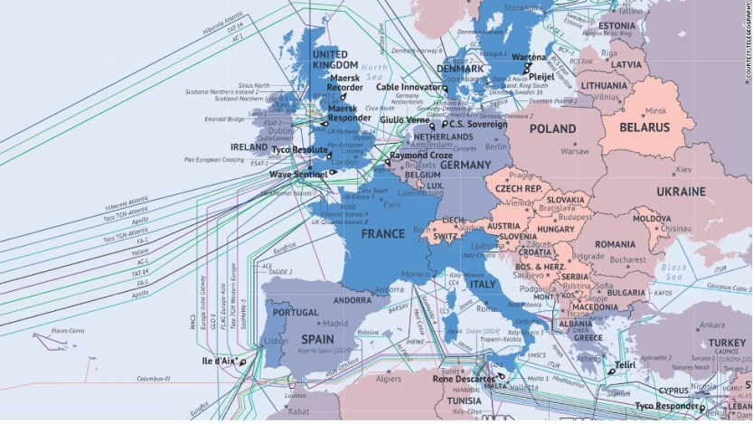 """stressfm-feed: """" The information age is powered by thin fiber-optic cables buried in the sea bed, spreading between continents to connect the most remote corners of the planet. """""""