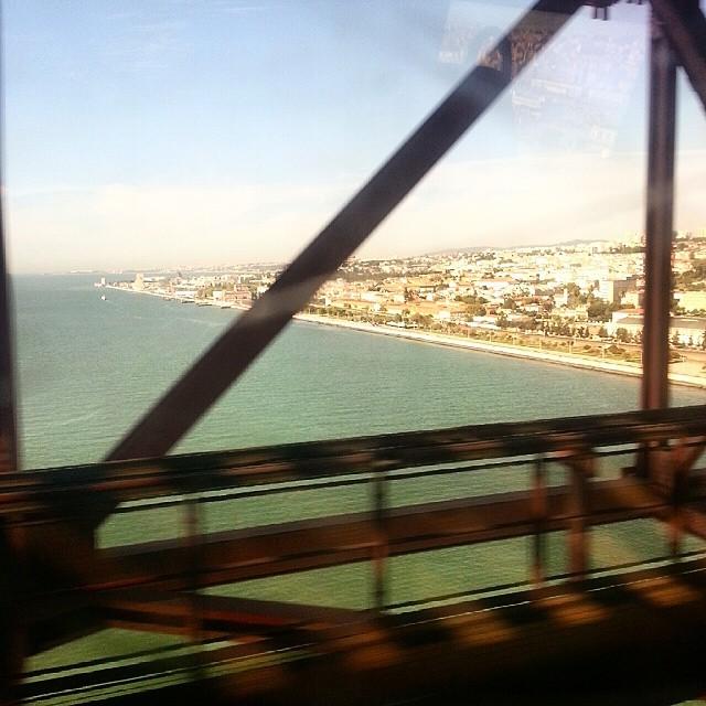#Lisbon from the bridge. Train day http://ift.tt/1sSZ1zE