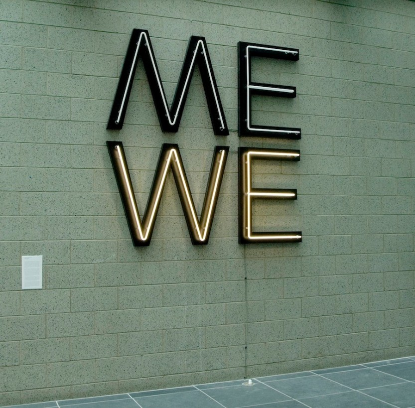 """#chumboworld / Glenn Ligon, Give us a Poem (Palindrome #2), 2007""""Glenn Ligon made this neon piece […] in 2007, and I saw it a little while back on the wall of the Studio Museum in Harlem, where it's part of the permanent collection. The work is built..."""
