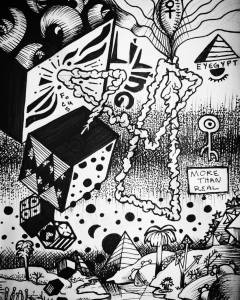 """mael-strm: """"What are we really doing here? Process: I've been continuing to read up on Mandelbrot's writing. Im super facinated by the prolific contributions fractal geometry has made to our understanding of natural phenomena. This drawing was more..."""