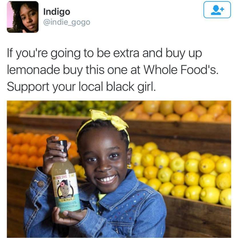 "thechanelmuse: "" cleophatracominatya: "" zoominfocus: "" #lemonade "" Yes! "" Mikaila Ulmer, now age 11, is the CEO and founder of BeeSweet Lemonade, a company she started at age 4. Here's a brief video with her résumé. She tells how she got Whole Foods..."