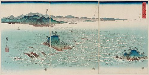 Hiroshige Utagawa Hiroshige (Japanese: 歌川 広重), also Andō Hiroshige (Japanese: 安藤 広重; 1797 – 12 October 1858), was a Japanese ukiyo-e artist, considered the last great master of that tradition.