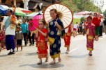 Young girls in procession