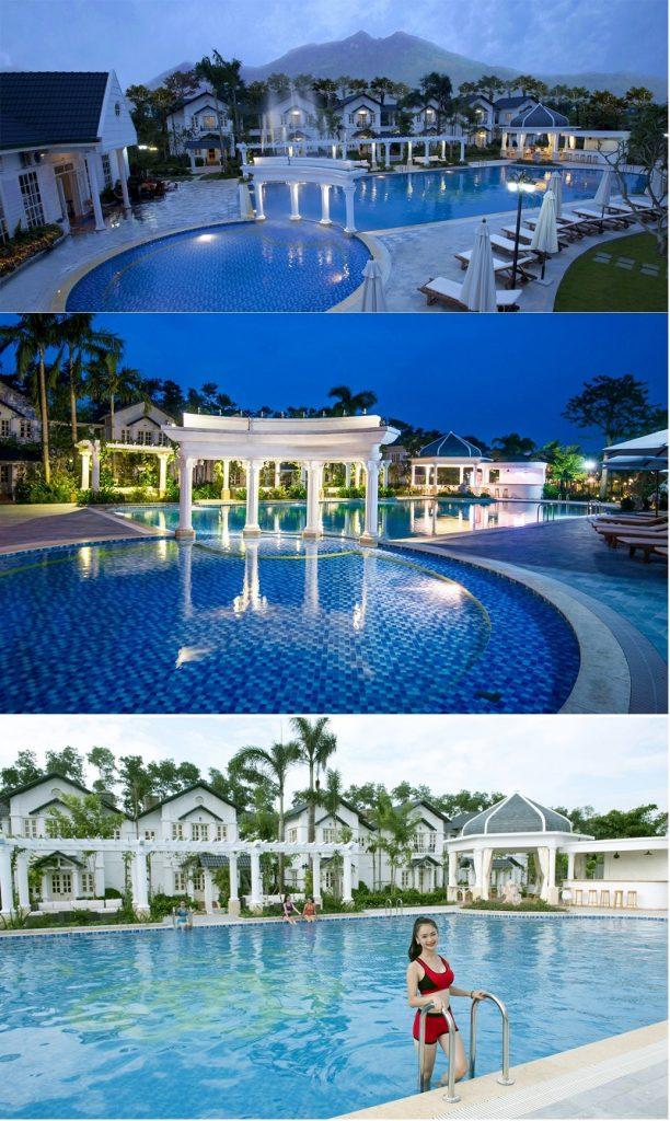 Bể bơi ngoài trời dự án Vườn Vua Resort Phú Thọ