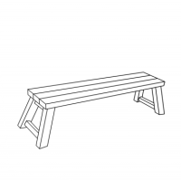 Riesige Deckstuhl Step Bench