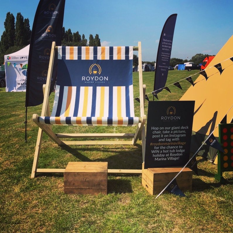 Roydon-Marina-Village-Giant-Deckchair