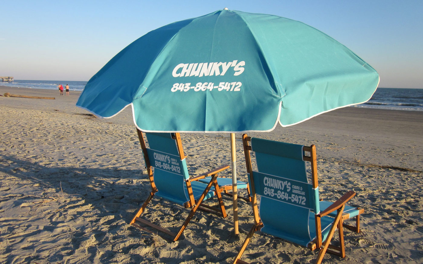 beach chair rental isle of palms bathroom vanity stools chairs chunky s and umbrellas umbrella rentals previousnext