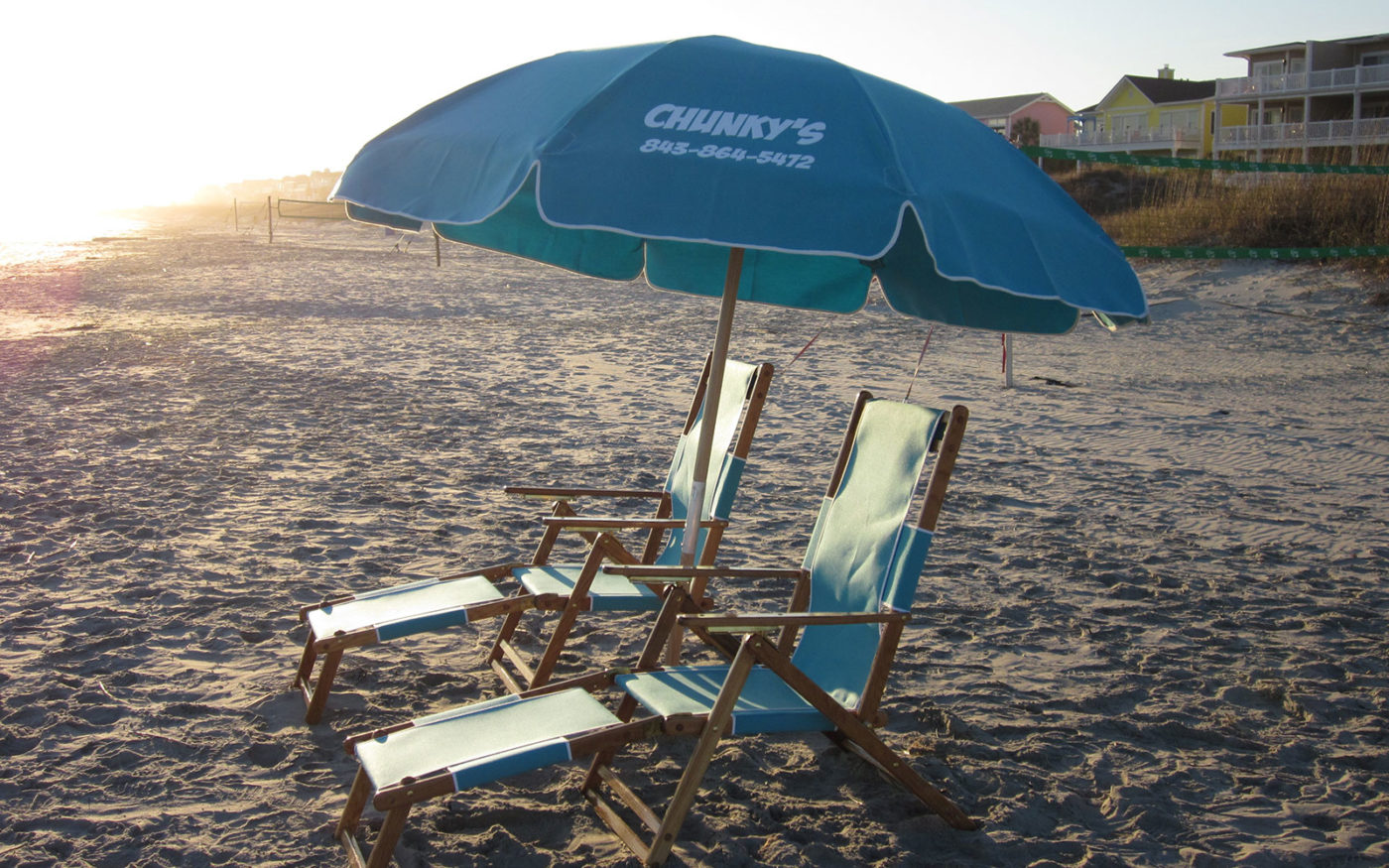 beach chair rental isle of palms standard size chunky 39s chairs and umbrellas umbrella