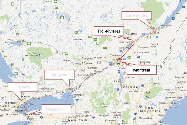 Trois-Rivieres to Montreal