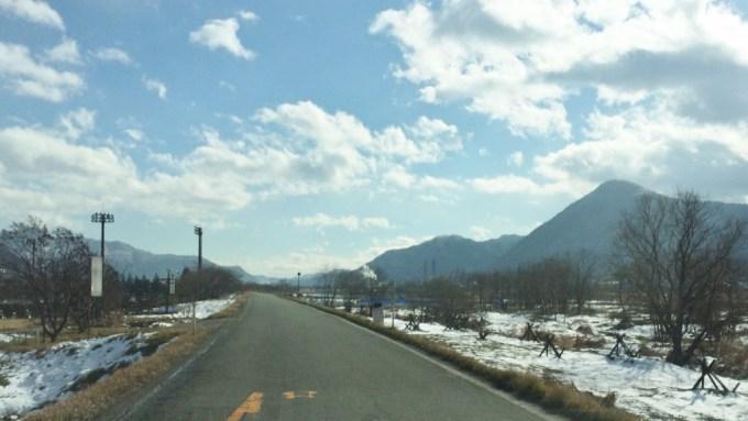 長野県戸倉上山田温泉周辺積雪道路状況