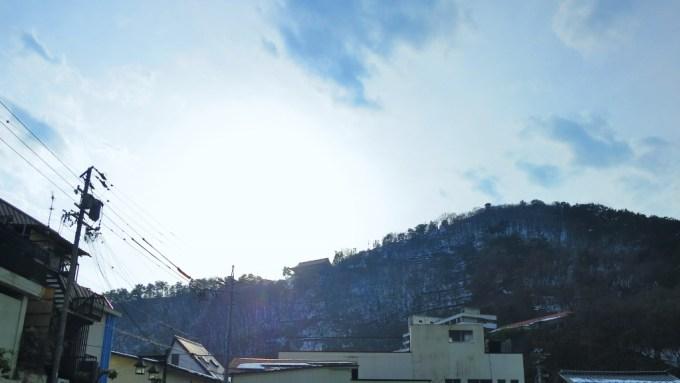 戸倉上山田温泉積雪道路状況中央ホテル城山