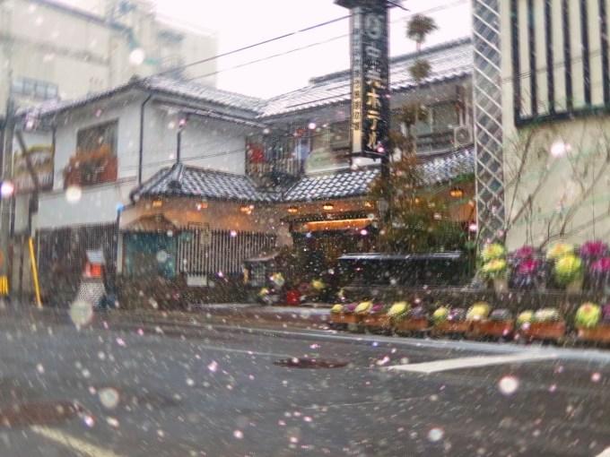 戸倉上山田温泉雪景色