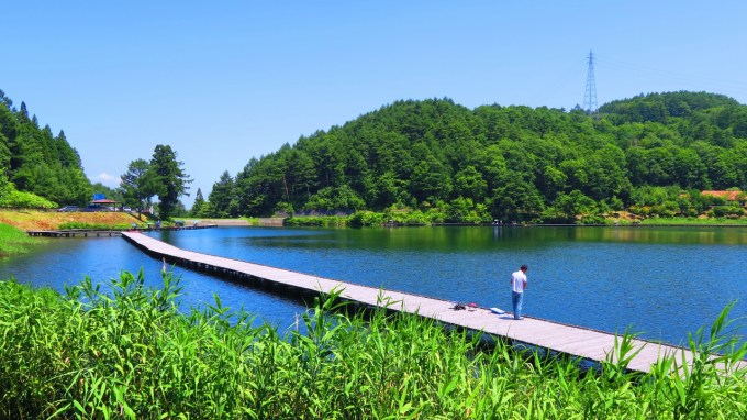長野県麻績村聖高原聖湖釣り