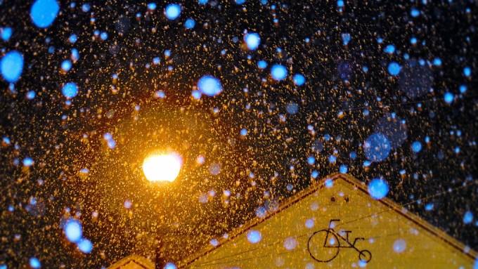 長野県千曲市戸倉上山田温泉積雪しなの鉄道戸倉駅