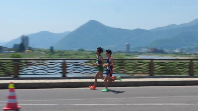 長野県千曲市千曲川ハーフマラソン大会