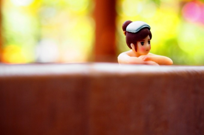 かけ流し温泉貸切露天風呂樽風呂