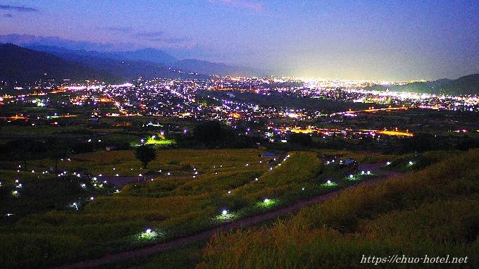 信州さらしなおばすて観月祭ライトアップ