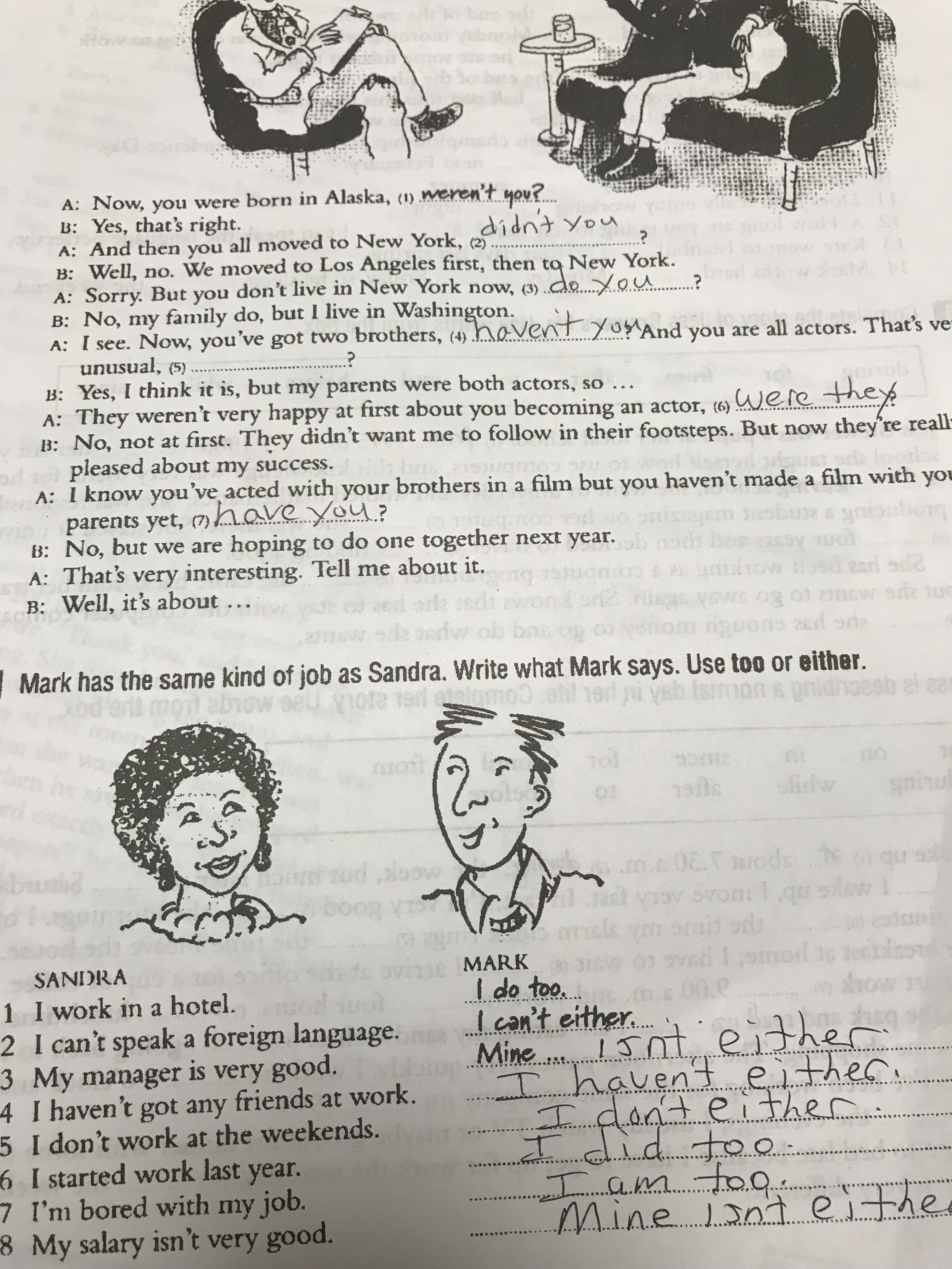 Worksheet Answers For Page 52 And 26