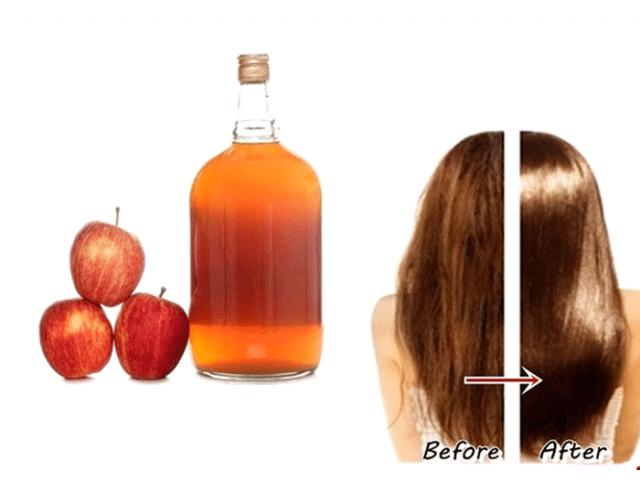 Uống giấm táo giúp tóc chắc khỏe