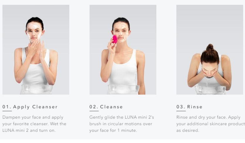 Cách rửa mặt bằng máy rửa măt Foreo Luna mini 2