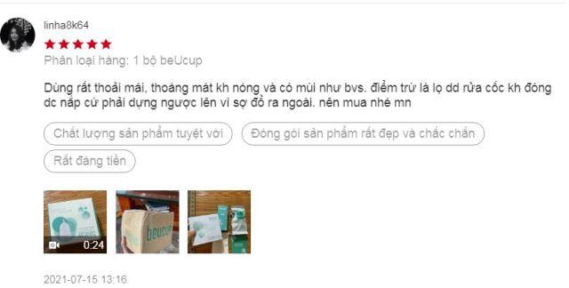 Review cốc nguyệt san Beucup