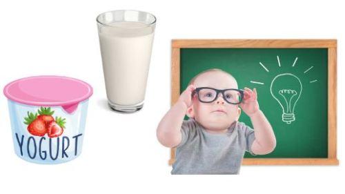 Uống sữa giúp bé thông minh