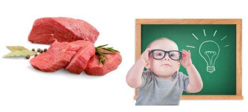 Ăn thịt bò giúp trẻ thông minh hơn